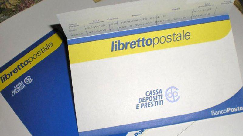 Giacenza media libretto postale cointestato